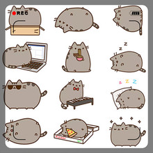 40 Different mini Cartoon cat Paper Sticker Decoration DIY Ablum Diary Stickers Scrapbooking Label Sticker Kawaii Stationery