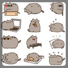 40 Khác Nhau Mini Mèo Hoạt Hình Giấy Dán Trang Trí DIY Ablum Nhật Ký Dán Thêu Sò Nhãn Dán Kawaii Đồ Văn Phòng Phẩm