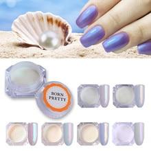 1 Box masa perłowa brokat w proszku błyszczące ozdoby do paznokci Pigment pyłu magia chrom ozdoby do paznokci do własnoręcznej dekoracji lakier żelowy UV