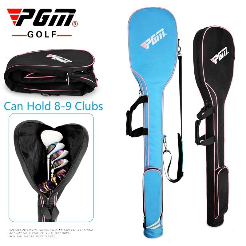 Pgm Mini Golf Gun Bag Foldable Design Portable Gun Bag Hold 8-9  Clubs High Capacity Shoulder Club Golf Bags For Men Women 1