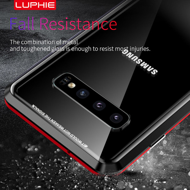 360 Magnetic Double Tempered Glass Case for Samsung Galaxy S10 S9 Plus S10plus S8 Magnet Flip Cover for Samsung Note 10 10+ 9 8