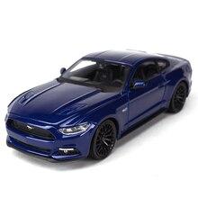 Maisto 1:24 2015 Ford Mustang GT spor araba statik döküm araçları koleksiyon Model oyuncak arabalar