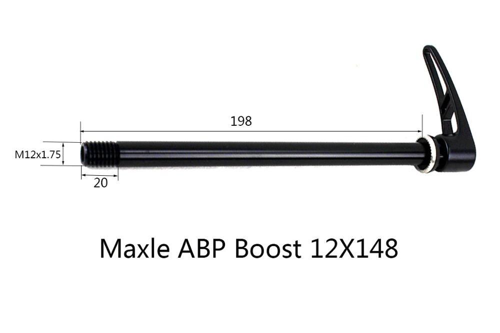 Axe SRAM Maxle Arbre De Roue MTB Arrière Noir tl20 12x148 l188 gew.m12x1.75