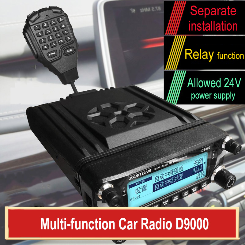 Zastone D9000 Car Radio Communicator with Relay Function Dual Band VHF&UHF 512 Channels CB Radio Station D9000 Car Walkie Talkie
