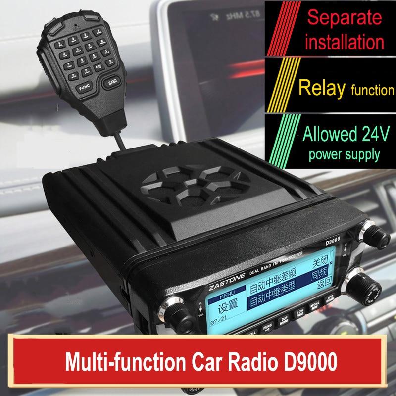 Zastone D9000 Car Radio Communicator With Relay Function Dual Band VHF&UHF 512 Channels CB Radio Station D9000 Car Walkie Talkie