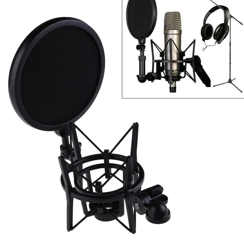 Recording Studio Microphone Stand Shock Mount For Computer Condenser Mic Holder Metal Shockmount Clip Suspension Spider Bracket