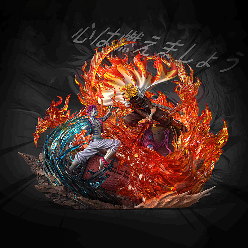 Demon Slayer's Blade Flame Pillar Purgatory Apricot Shouro VS Winding No. 3 Yiwoza GK Limited Statue Figure 1