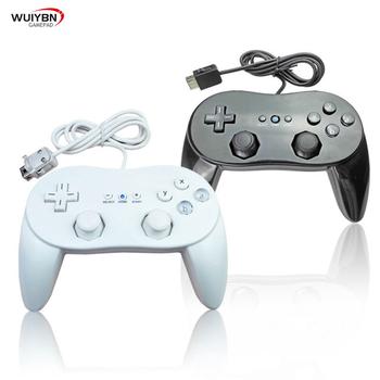 Klasyczny kontroler przewodowy Wii Pro Gamepad Shock Joystick do konsoli nintendo Wii tanie i dobre opinie WUIYBN Gamepady Wii Controller