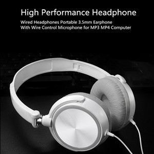 Headphones With Mic Over Ear Headsets Bass HiFi Sound Music Stereo Earphone For iPhone Huawei PC