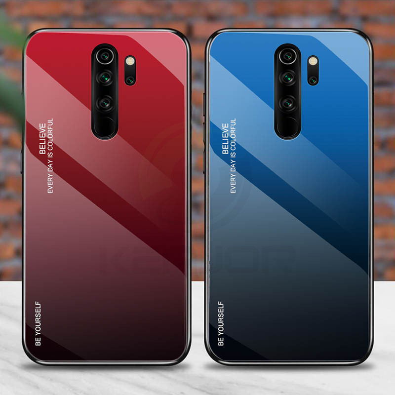 Image 5 - Tempered Glass Case For Xiaomi Redmi Note 8 Pro Case Luxury Gradient Hard Cover Soft Silicon Frame Bumper For Redmi Note 8 Cover-in Fitted Cases from Cellphones & Telecommunications