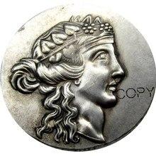 G(19) греческая Серебряная монета, Трайс тгоу AR Tetradrachm посеребренные копии монет