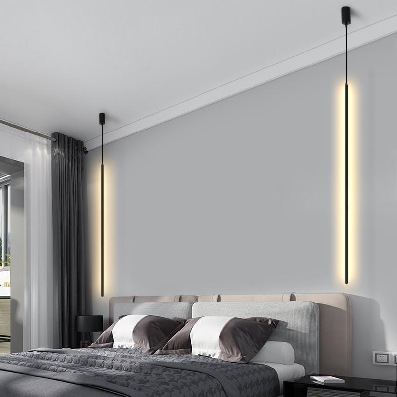 Modern Minimalism LED Pendant Lights Lighting Nordic Loft Dimming Pendant Lamp Living Room Bedroom Hanging Lamp Kitchen Fixtures