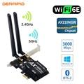 3000 Мбит/с Wi-Fi, 6E рабочего стола PCIe Беспроводной Вай-Фай адаптер Intel AX210 Bluetooth 5,2 сетевой AX200 Wi-Fi кард-2,4G/5G 802.11ax MU-MIMO