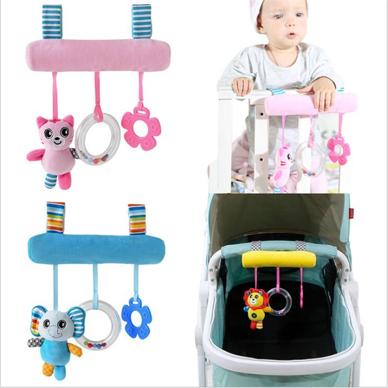 5 Style Lovely Hanging Rattles Lovely Doll Hanging Bed Baby Stroller Car Toys  Animals Cat Panda Stuffed Cradles