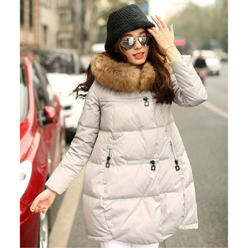 Women Winter Jacket Fur Collar Coat Long Parkas Plus Size Down Jacket Pregnant Women Overcoat Sports Outerwear Winter S-5XL