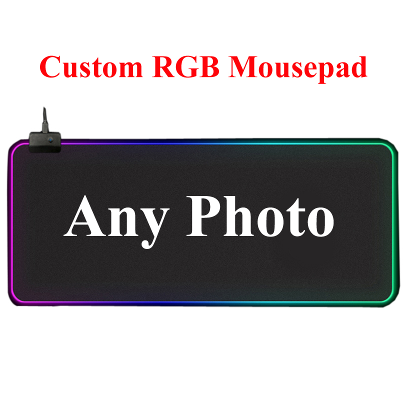DIY Customized RGB Gaming Mouse Pad Desk Computer Mouse Mat Personalized Mousepad Factory Direct Sale