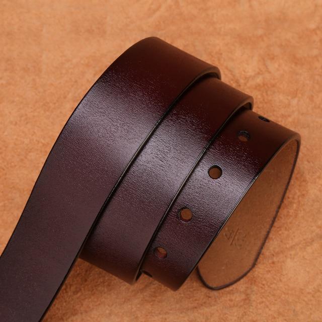 BISON DENIM Belt Cowskin Genuine Leather Personality Men belt 5