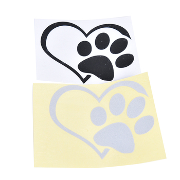 Car Truck Sticker Bumper Window Adopt Bully Heart Cat Dog Laptop Boat Truck Auto Bumper Wall Graphic Heart Paw Vinyl Decal image