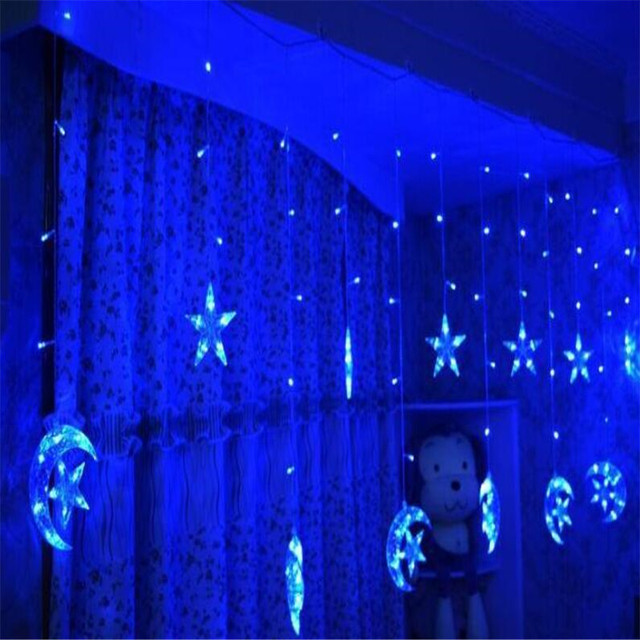 Фото 25 м звездный лунный занавес гирлянда для дома гостиницы спальни цена