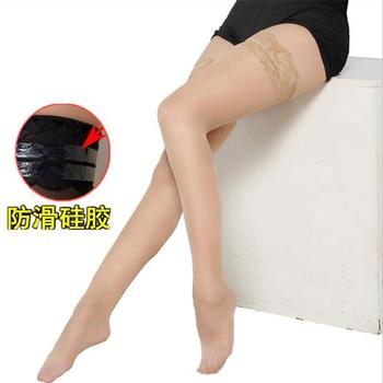 Super cienkie seksowne pończochy damskie na kolanach koronkowe pończochy wysokie rurki pończochy z antiskidSexy mesh koronkowe pończochy tanie i dobre opinie DROZENO Pasuje prawda na wymiar weź swój normalny rozmiar