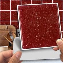 Funlife®Рубиново красная мозаичная Наклейка на стену декоративная