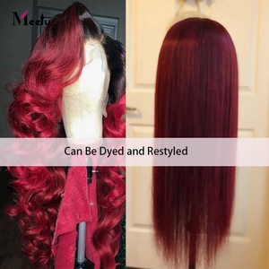 Image 5 - Meetu 13X4 Lace Front Wig Loose Wave Human Hair Wigs For Black Women Brazilian Transparent Lace Front Human Hair Wig Pre Plucked