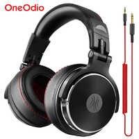 Oneodio estúdio pro dj fone de ouvido sobre a orelha 50mm drivers de alta fidelidade fone profissional monitor dj fones com microfone para xiaomi iphone