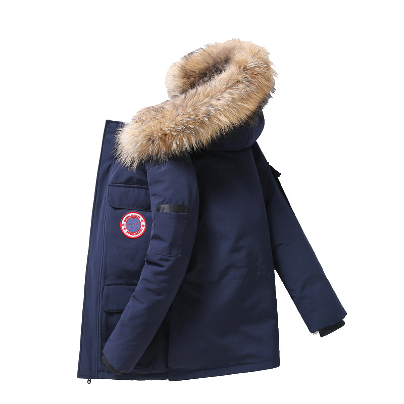 Winter Jacket Men White Duck Down Parkas Jacket Men's Thick Warm Snow Parka Jacket Overcoat Windbreaker Hooded Warm Parkas 165