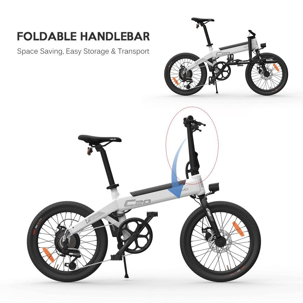 Berg schnee ebike HIMO C20 20 Zoll Klapp 80KM Palette Macht Assist Elektrische Fahrrad Moped E-Bike 10AH falten elektrische fahrrad