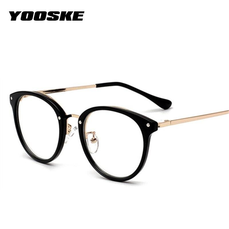 YOOSKE Oversized Glasses Frame Women Men Vintage Optical Frame Spectacle Glasses Clear Lens Student Myopia Eyeglasses Frame