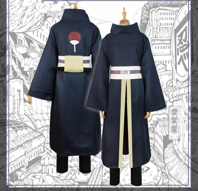 7 Set Naruto Trang Phục Hóa Trang Uchiha Obito Cosplay Tay Dài Đen Áo Choàng Mặt Nạ Phụ Kiện Anime Cosplay Bộ Halloween Cos