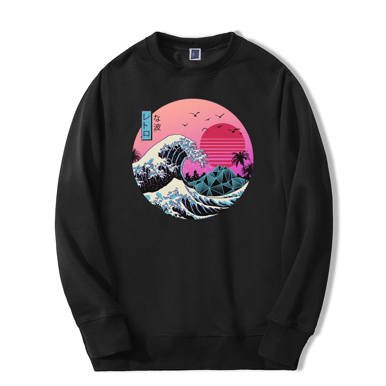 Vintage Men Sweatshirt Japan Style 2019 New Arrival Hoodie Fashion Casual Tracksuit High Quality Sportswear Fitness Streetwear
