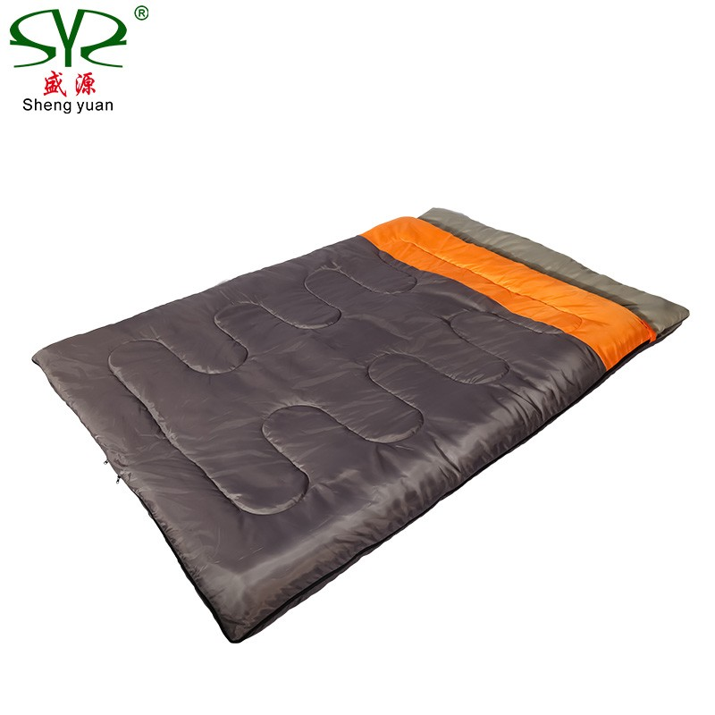 double person sleeping bag outdoor camping Adult sleeping bag lover couple travel warm weather use Detachable sleeping bag