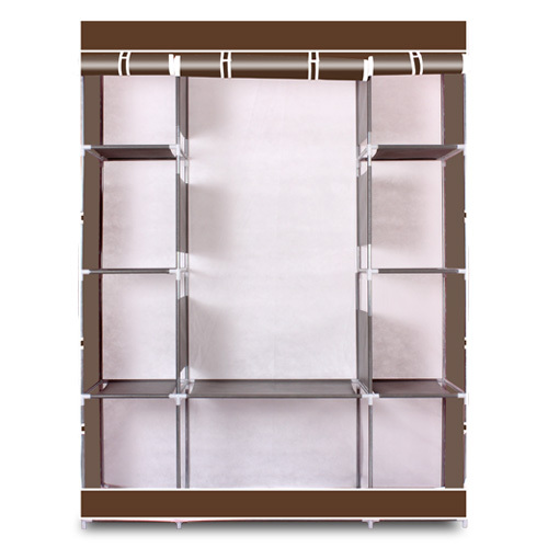 4-Layer 10 Lattices Wardrobe Clothes Closet Storage Organizer High Quantity Alloy Rack Holder For Apartment For Bedroom Storage