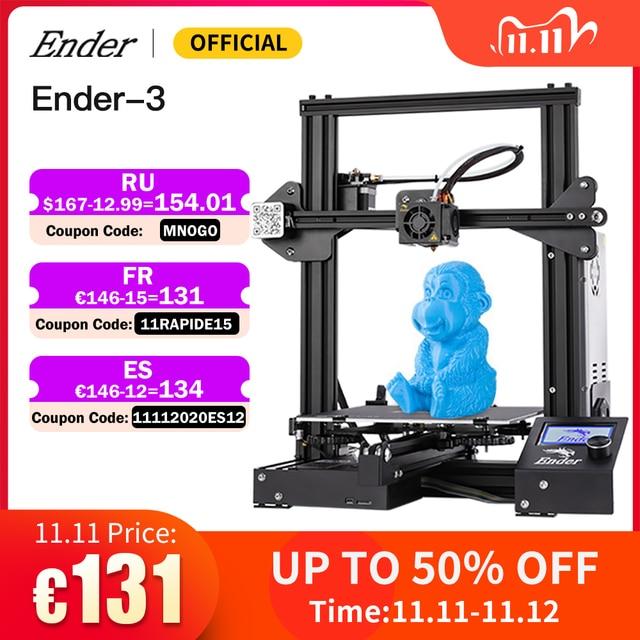 Hot Sale Ender 3 Kit 3D Printer Large Size Ender 3X Printers 3D Continuation Print Power Creality