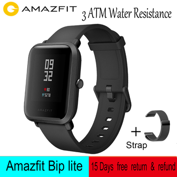 Global Version Amazfit Bip Lite Smart Watch 3ATM Water-resistance 45-Day Battery Life Sport watch For Xiaomi Android IOS