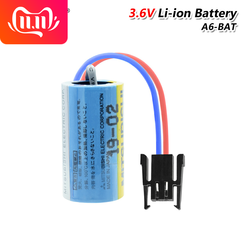 10 Pack Mitsubishi A6BAT ER17330V PLC Battery Size 2//3A 3.6V Battery with Plug