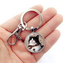Wg 1 шт милый кот подарки время драгоценный камень и стеклянный