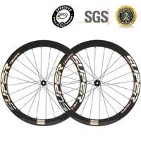 SUPERTEAM 25mm Largura Cyclocross Da Bicicleta Clincher Rodas De Carbono 6 Parafusos/Bloqueio Centro 50mm Profundidade|Roda de bicicleta| |  -