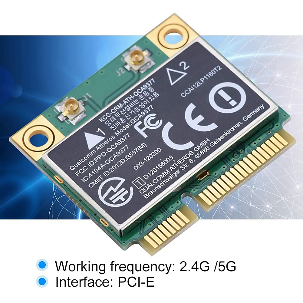 WIFI Card Atheros QCA9377 Wireless Dual Band 433Mbps WLAN 802.11ac 2.4G/5G Bluetooth 4.1 Mini PCI-E Network Adapter AW-CM251HMB 5