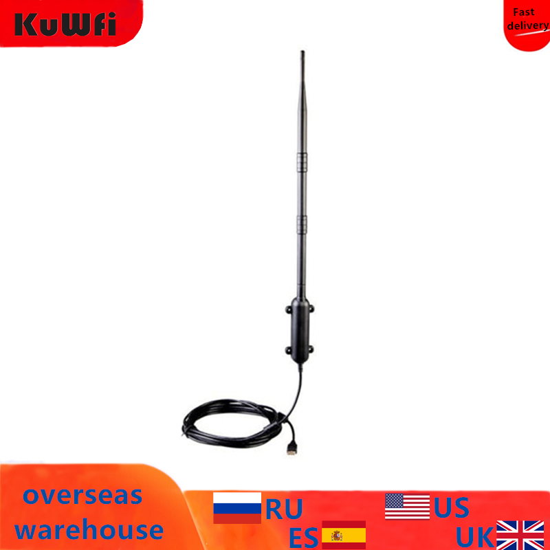 High Power Outdoor WiFi Antenna 150Mbps USB Wireless Wifi Adapter 1KM Distance Amplifier Omni directional Wireless Network Card-in Network Cards from Computer & Office