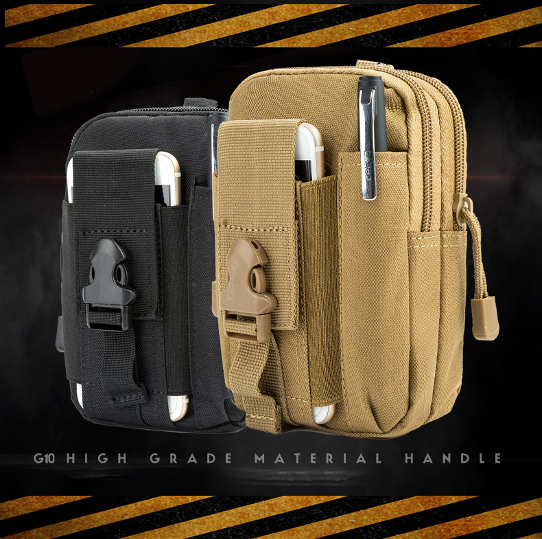 Canvas Waist Pack Men's Casual Bag Purse 600D Waterproof Nylon Belt Zipper Tactical Molle Outdoor Sport Fanny Multifunction Pack