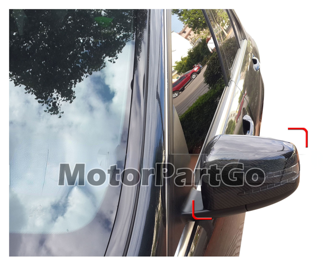 Real Crabon Fiber Mirror Cover Exchange original 1 pair for Mercedes Benz W212  2010--2015 3