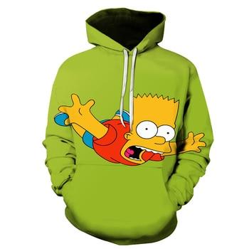 Men Women Anime Homer Simpson and his son Hoodie Cosplay Costume Warm Sweatshirts Unisex Cartoon Pullover Spring Casual Hoodie 2