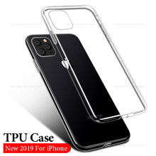 Transparent Silicone Case for iPhone 11 2019 Xi R Xi Max Clear Soft TPU Cases Cover for iPhone XR X XS Max SE 4 5 6 S 7 8 Plus(China)