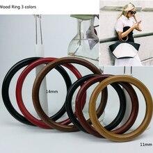 1 пара 11,14 см Meetee деревянное кольцо DIY сумка ручные аксессуары деревянная сумка Рамка круглая ручная деревянная рамка под Кошелек 3 цвета