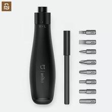 Wiha 8 em 1 uso diário chave de fenda kit precisão bits magnéticos diy parafuso driver conjunto para casa ferramentas inteligentes diy chave de fenda
