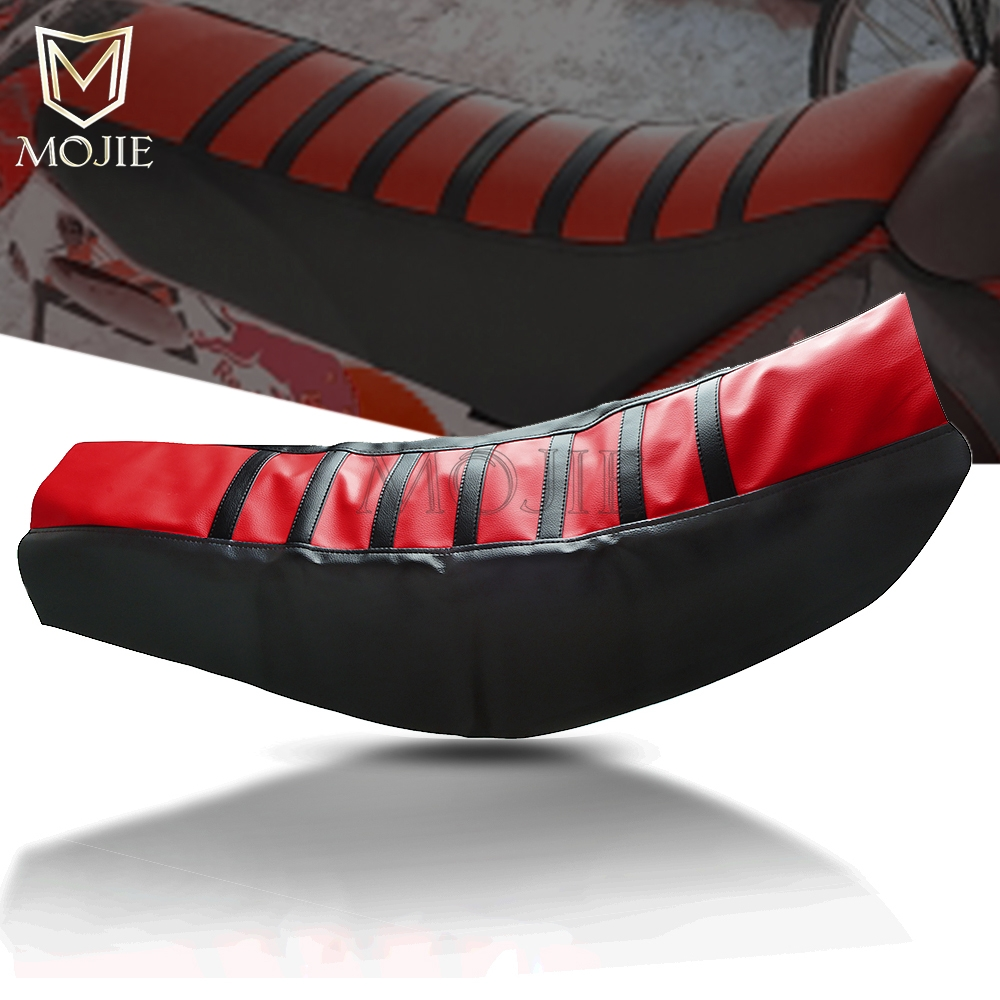 For Honda TRX XLR CRF XR 50 <font><b>70</b></font> 80 100 230 250 350 400 450 500 600 650 R L F MOTARD BAJA Motorcycle Rubber Soft Seat Cover image