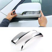 Auto Side Rear View Mirror Strip Decoration Cover Trim Sticker For Toyota Land Cruiser Prado FJ150 2010-2018 Car Accessories