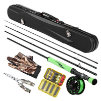 Fly Fishing Rod and Reel Combo Lightweight Carbon Fiber Fly Rod Pole Fly Fishing Gloves Pliers Flies with Portable Carry Case|Rod Combo|   -